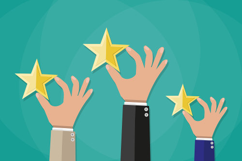 Customer content in the form of review